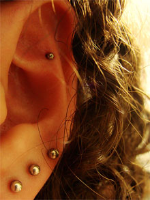 Piercings can result in complications. Image: monicasecas on Flickr