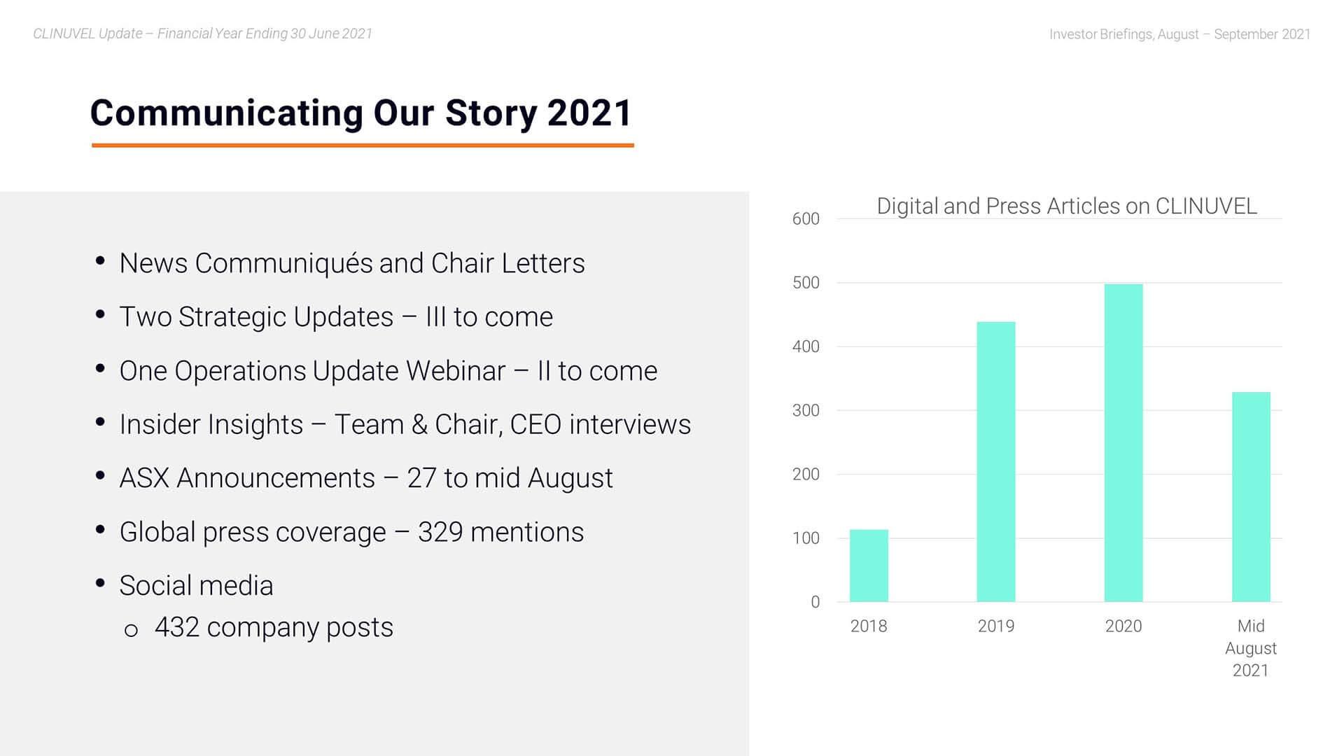 Webinar - Communicating our Story 2021